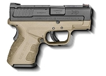 SPRINGFIELD ARMORY XD FDE SUB-COMPACT 9MM