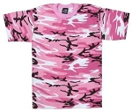 Rothco Women's Traditional Pink Camo T-shirt