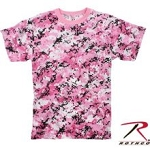 Rothco Women's Pink/Black Digital Camo T-shirt